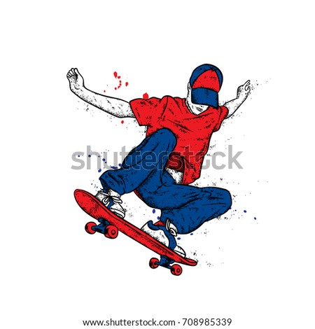 stylish skater in jeans and