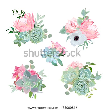stylish small bouquets of