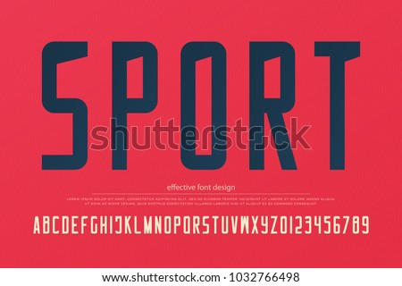 stylish sport team alphabet letters and numbers. vector, sportive font type. sans serif typeface design. retro, logo typesetting