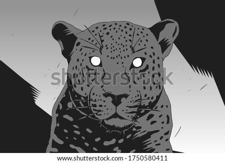 stylish stencil leopard for