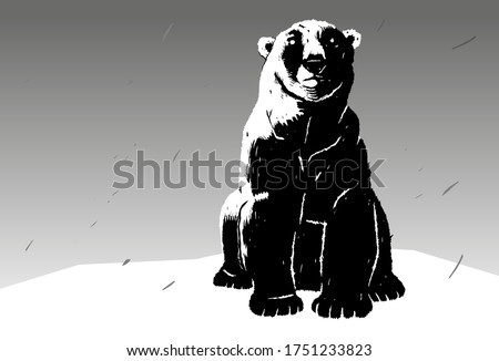 stylish stencil polar bear for