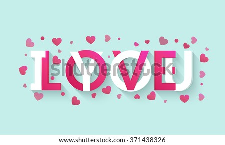 stylish text i love you on pink