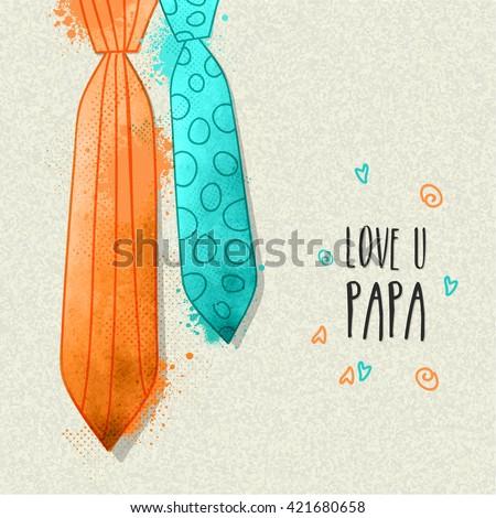 stylish ties in orange and sky