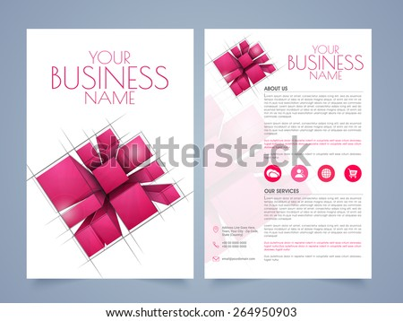 Stylish Corporate Office Magazine Cover Page Design In A Print - Two page brochure template