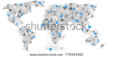 stylish vector abstract world