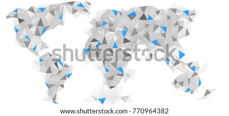 stylish vector abstract world