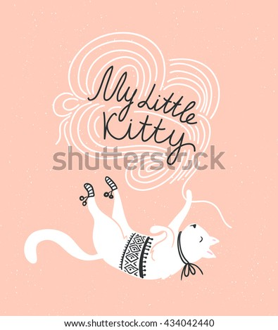 stylish vector card with cute