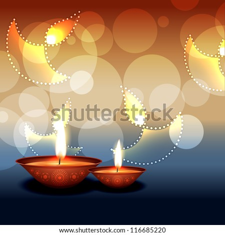 stylish vector diwali background design