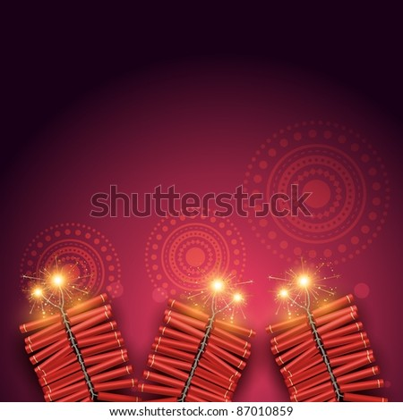 stylish vector festival crackers on artistic background
