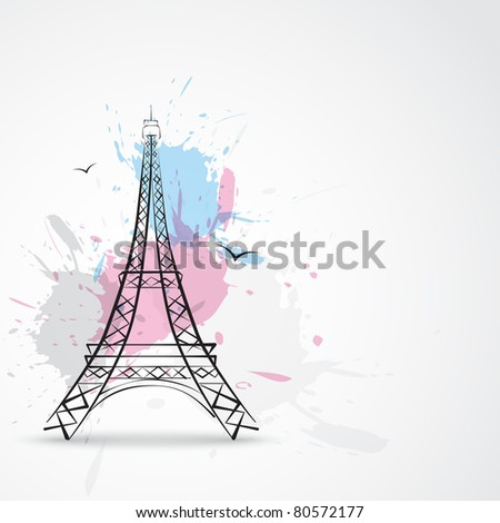 stylish vector paris eiffel tower
