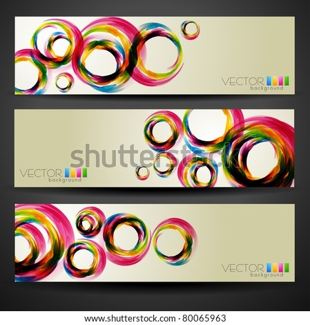 stylish vector set of three headers