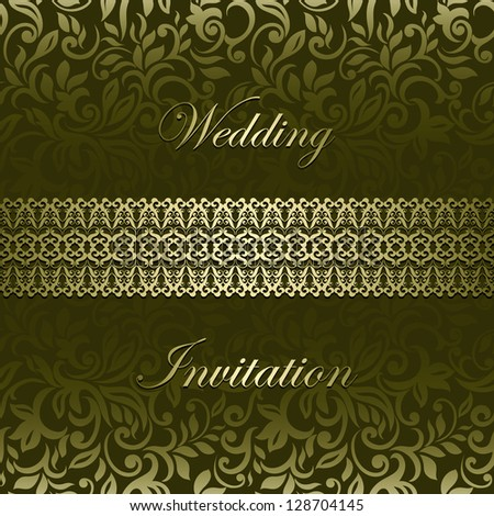 Stylish vintage card business visiting invitation design