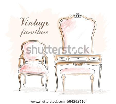 stylish vintage furniture ...