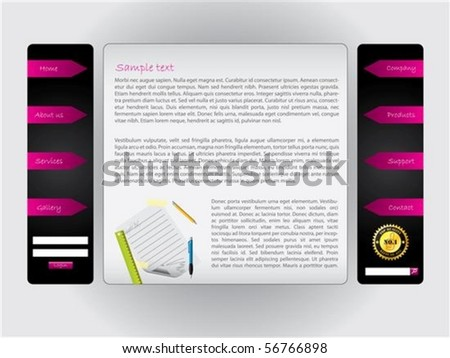 Stylish web template with stuff - stock vector