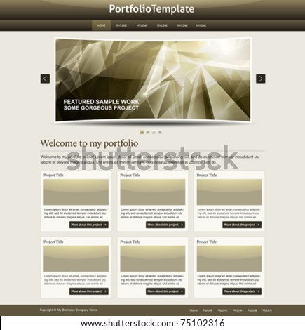 stylish website template - portfolio layout for designers and design studio