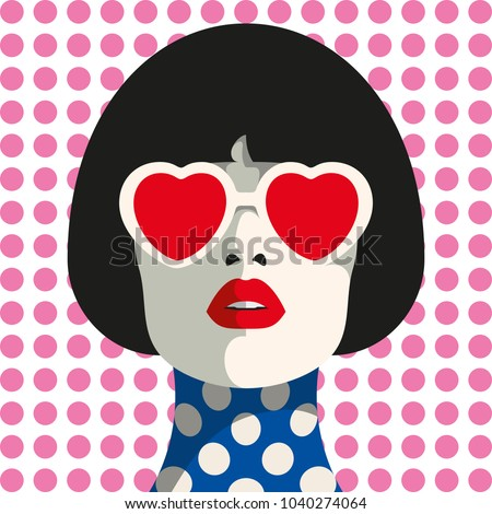 stylish woman with heart