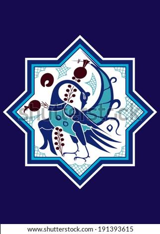 Stylize Turkish Motif Seljuk Kubadabad-