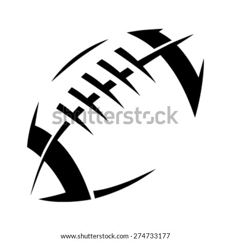 stylized american football logo