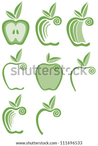 Stylized Apples Design Element