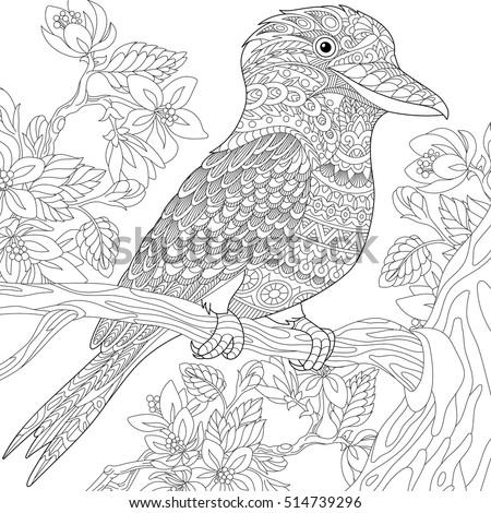 stylized australian kookaburra...