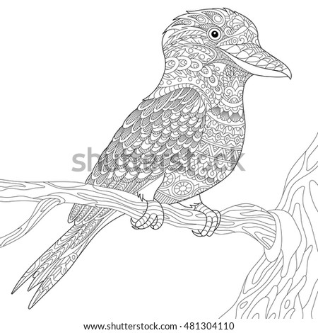 stylized australian kookaburra