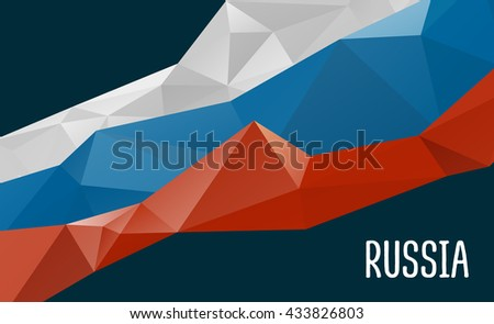 stylized background russia flag