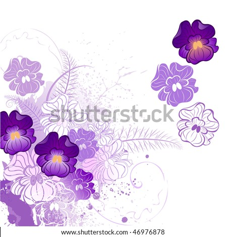 stylized beautiful violet with