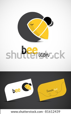 stylized bee icon such logo and