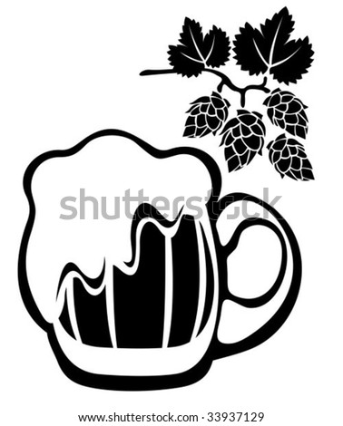 beer glass clipart. stock vector : Stylized eer
