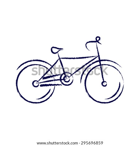 stylized bicycle  drawing with