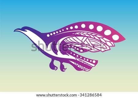 Shutterstock Stylized bird of prey flies