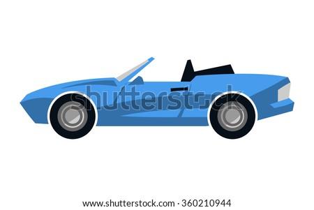 stylized blue convertible