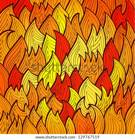 stylized bright fire background