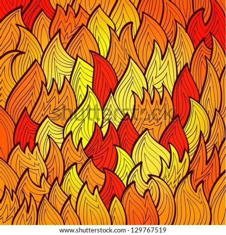 stylized bright fire background