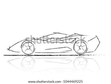 stylized car design  formula