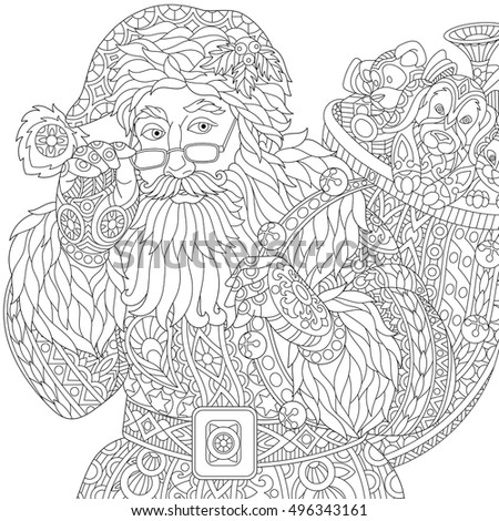 stylized christmas santa claus