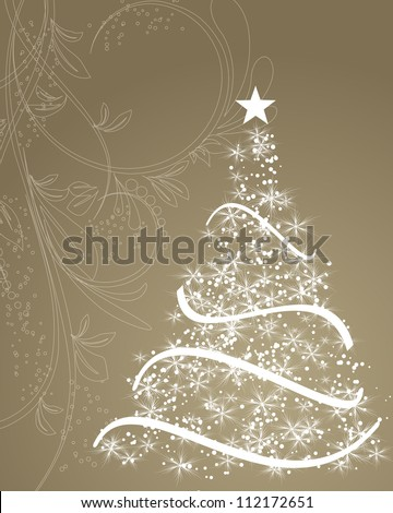 stylized christmas tree on