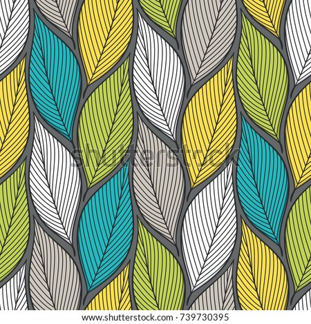 stylized colorful leaves