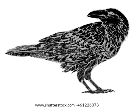 stylized crows decorative bird