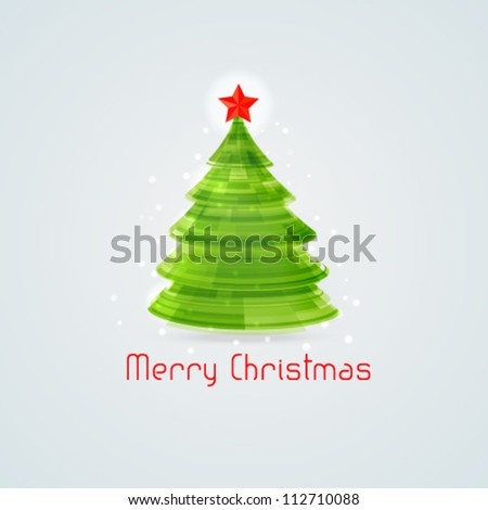 Stylized 3d Christmas tree. Vector illustration.