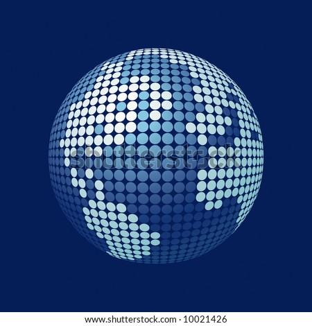 stylized 3D vector globe
