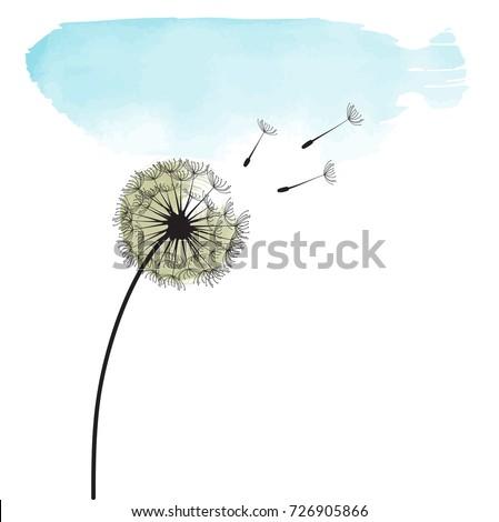 stylized dandelion