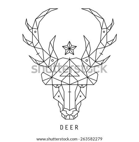 stylized deer head silhouette