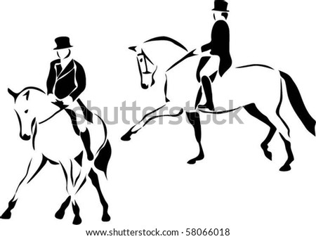 http://image.shutterstock.com/display_pic_with_logo/312388/312388,1280403552,2/stock-vector-stylized-dressage-58066018.jpg