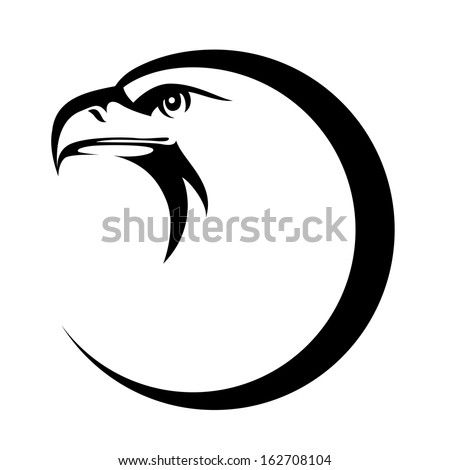 stylized eagle head emblem