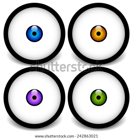 stylized eyeball icons  graphics