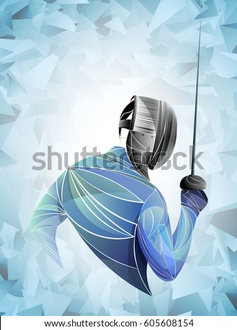 stylized fencing sport