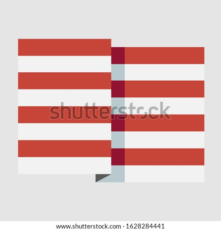 Stylized flat American stripes red, white showing patriotism in voting