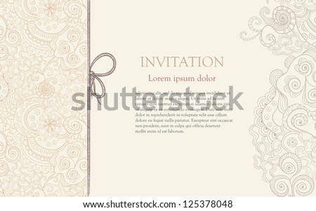 Background with floral paper swirls invitation download free stylized floral ornament invitation background stopboris Image collections