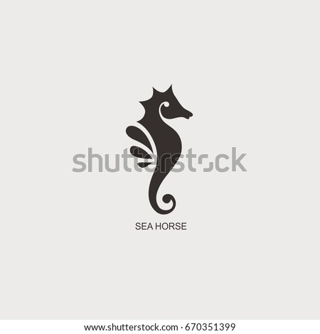 stylized graphic seahorse